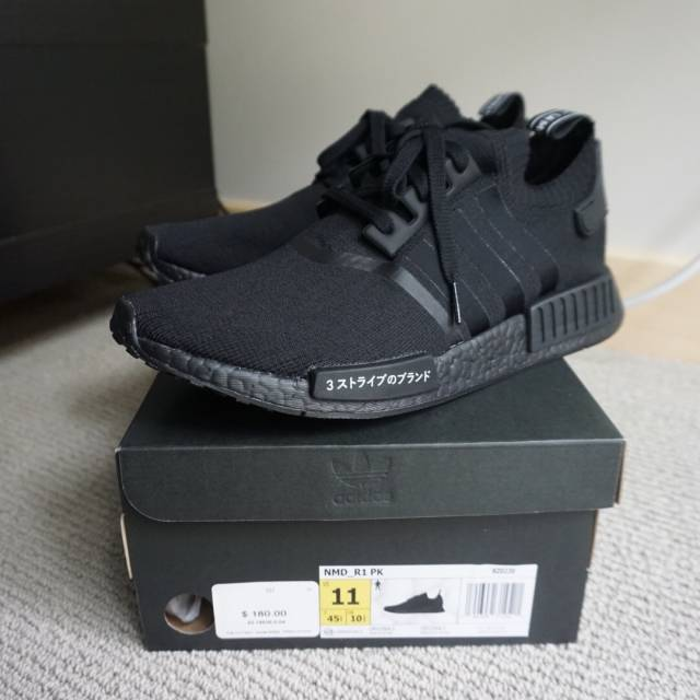 Shop Nmd R1 Pk Japan Triple Black Off 63 Emmayenvirons Com