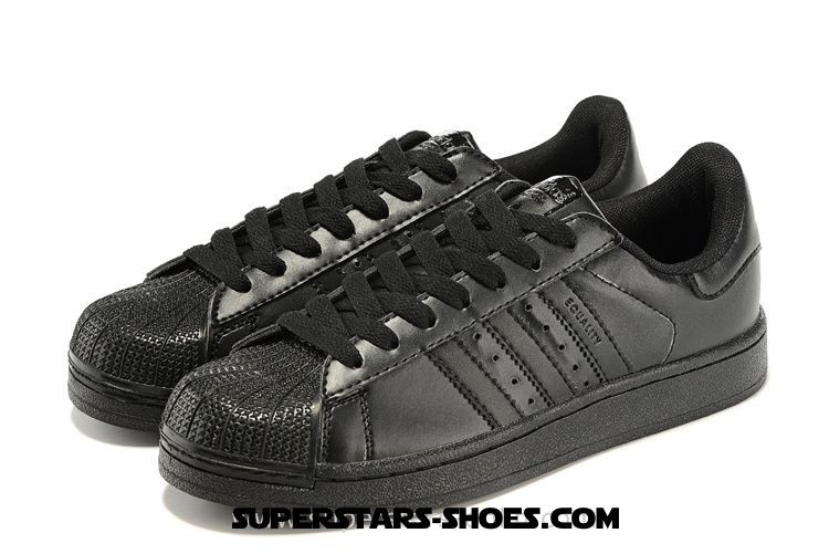 adidas superstar all black