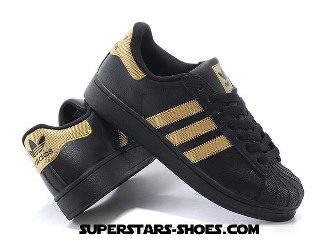 ADIDAS SUPERSTAR BLACK AND GOLD : Buy 100% authentic Adidas ...