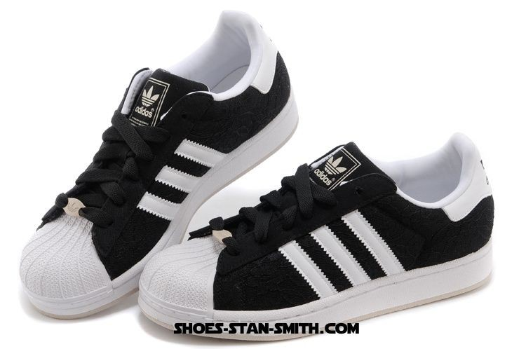 adidas superstar womens black and white