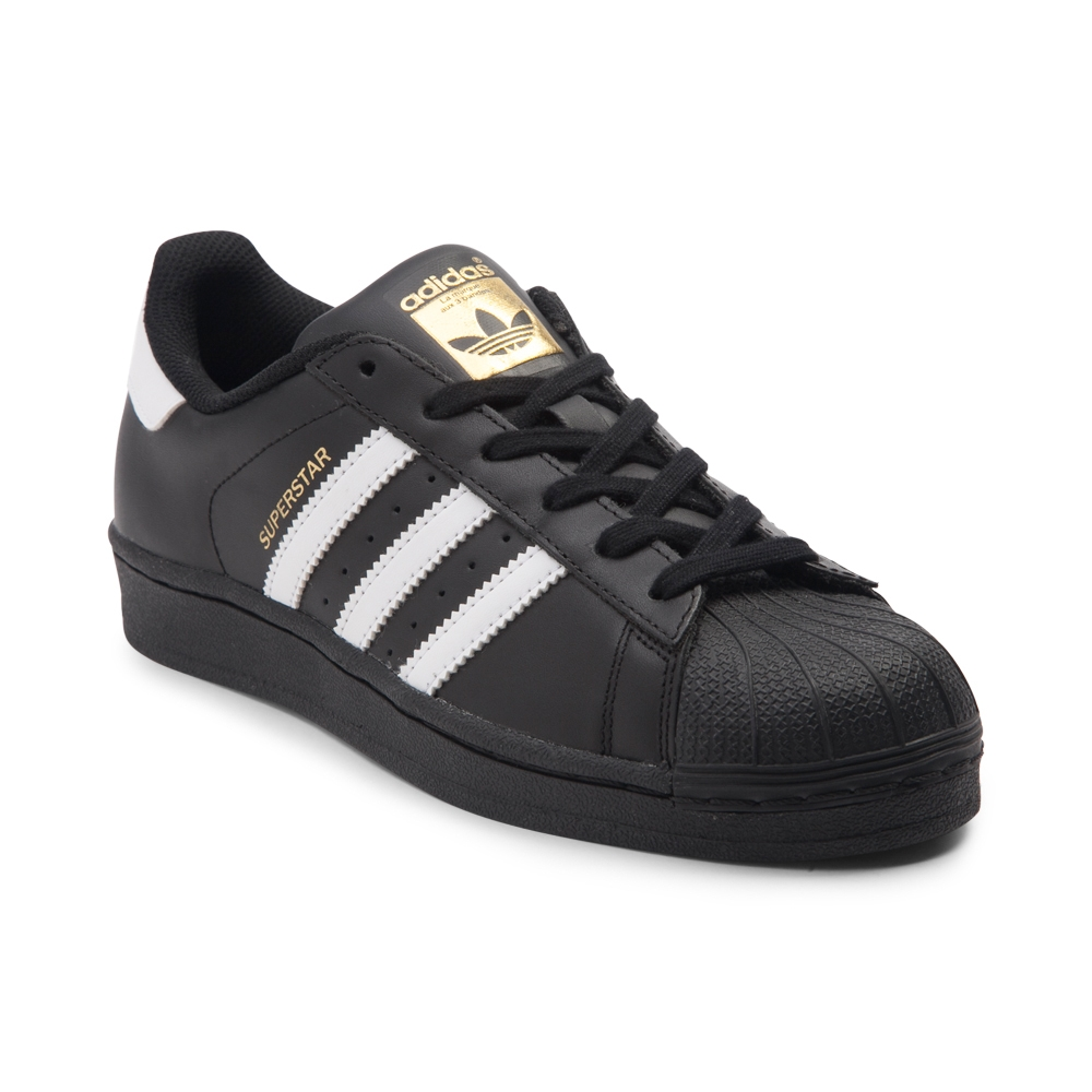 black adidas superstar womens