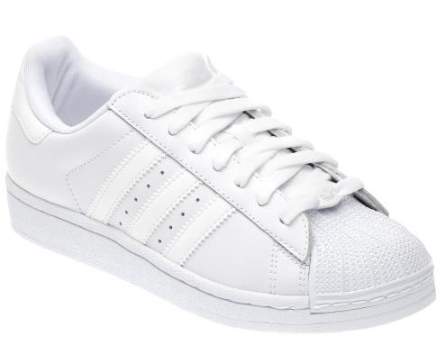 white shell toe adidas